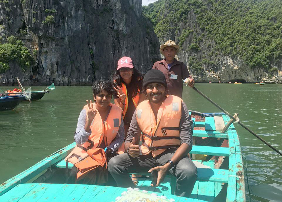 Enjoy the great feeling on bamboo boat