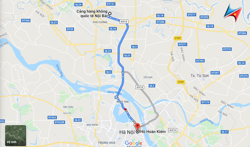 route for hanoi airport transfer service