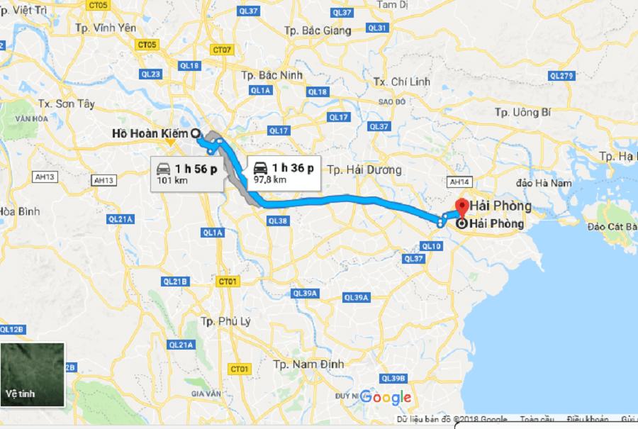 Private car Hanoi to Hai Phong city car rental service in Hanoi