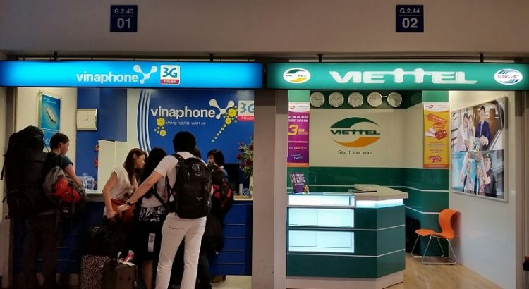 Vietnam sim card at hanoi airport