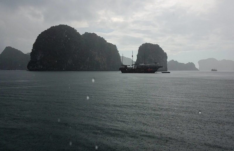 Rainy day in Halong bay
