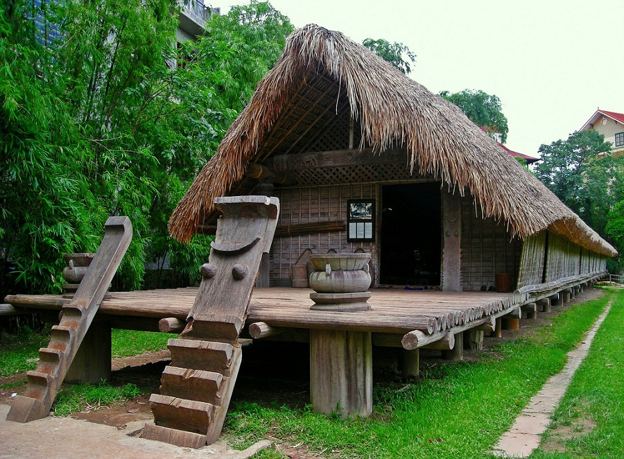 <p>Ethnic minority's house at Ethnology Museum</p>