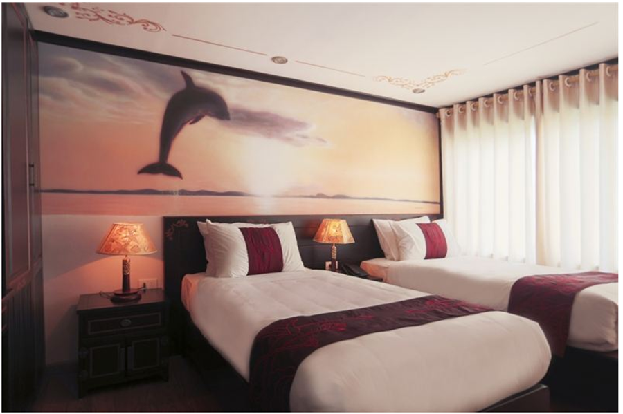 <p>Sleeping room on Huong Hai sealife</p>
