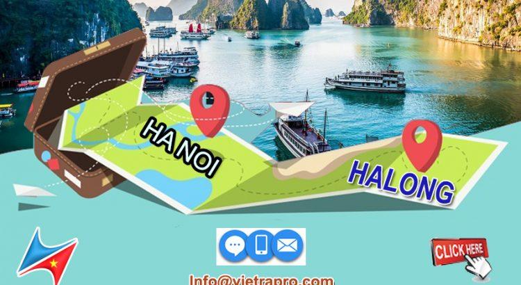 Hanoi to Halong bay distance Vietrapro