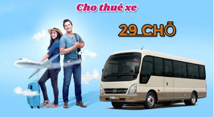 Cho thuê xe 29 chỗ tại hà nội giá rẻ có lái
