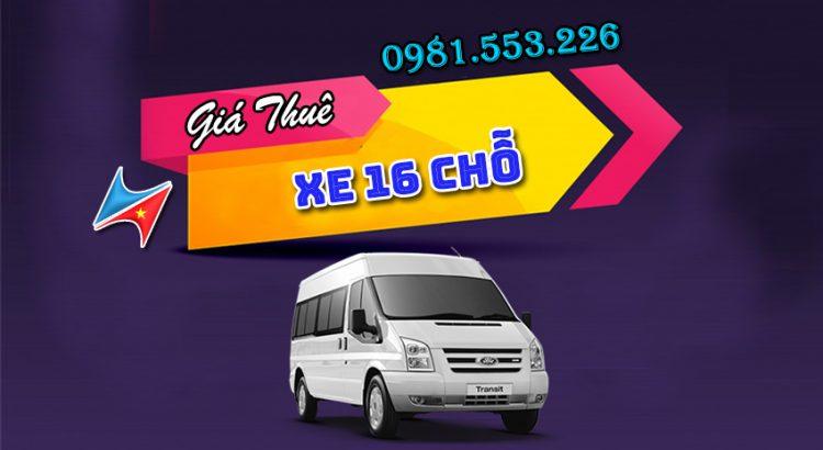 Giá thuê xe du lịch 16 chỗ