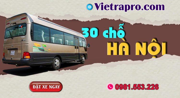 Dịch vụ cho thuê xe 30 chỗ tại Hà Nội - Vietrapro