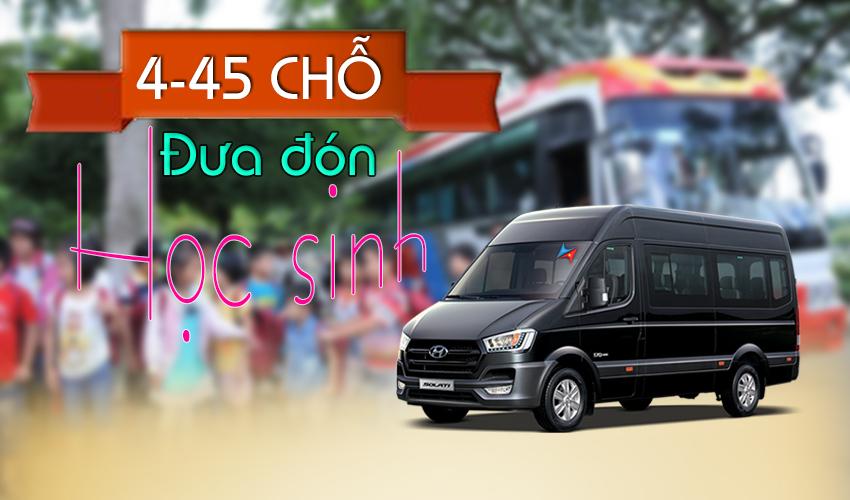 Dịch vụ đưa đón học sinh bằng ô tô tại Hà Nội - Vietrapro