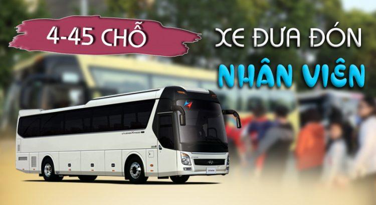 Dịch vụ xe đưa đón công nhân viên tại hà nội Vietrapro
