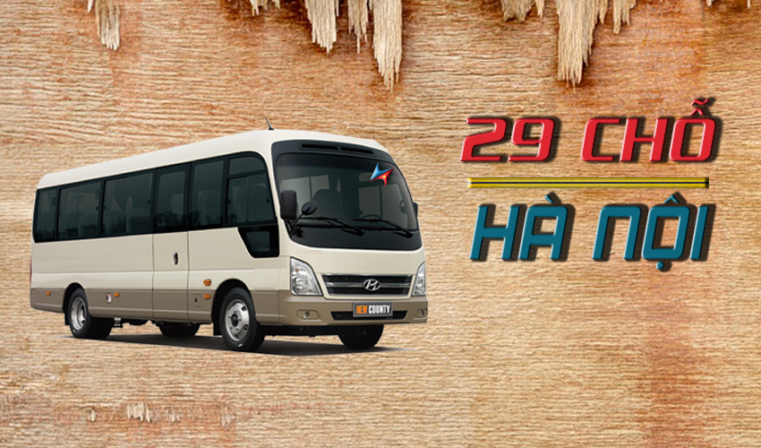 Giá thuê xe 29 chỗ tại Hà Nội Vietrapro