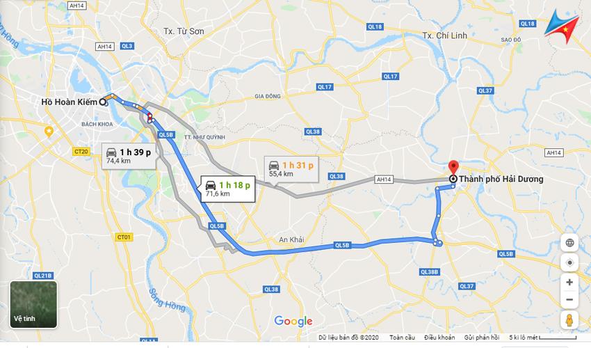 Lộ trình thuê xe đi Hải Dương từ Hà Nội