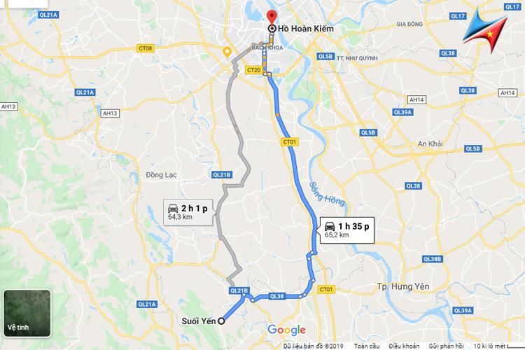 Lộ trình Hà Nội đi chùa Hương