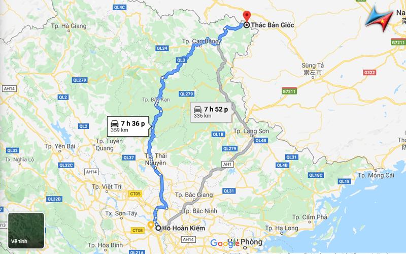 Lộ trình thuê xe đi Thác Bản Giốc từ Hà Nội Vietrapro