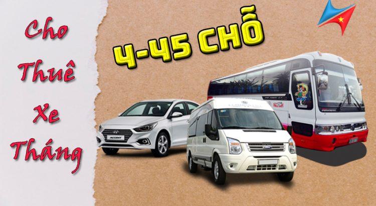 Cho thuê xe theo tháng tại Hà Nội có lái