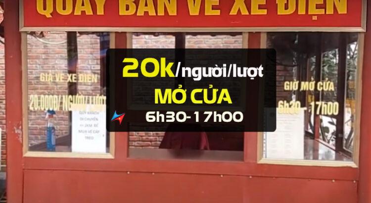 giá vé dịch vụ xe điện tây thiên
