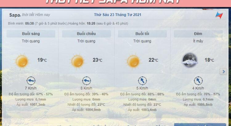 dự báo thời tiết sapa hôm nay
