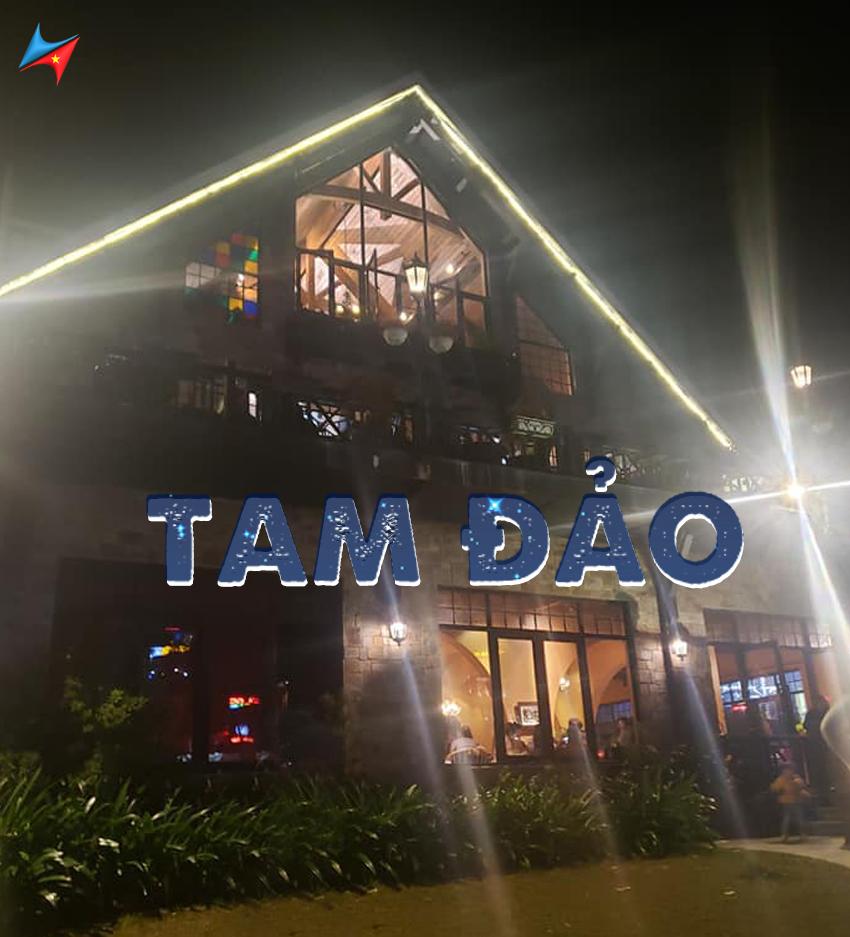 Hình ảnh quán ở trung tâm thị trấn tam đảo về đêm